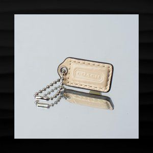 1.5″ Small COACH IVORY CREAM PATENT LEATHER FOB
